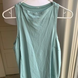 Teal Back In Action Tank - Size 4